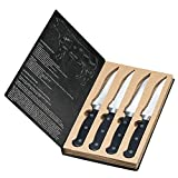 creativgravur® 4er Steakmesser-Set London plus Brieföffner von creativgravur®, Mit oder ohne Gravur:mit Gravur