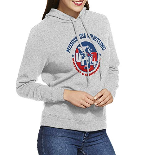 LLiopn Michigan USA Wrestling Pullover Hoodie Women's Long Sleeve Tops Hooded Sweatshirts XXL
