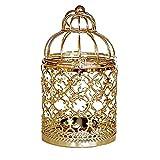 Westeng Eisen Hollow Metall Tealight Taschenlampen Hochzeitsfeier Dekoration Creative Birdcage Kerzenhalter Birdcage der Tabelle 1pcs - Golden