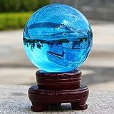 GYXYSJ Blue SkySfera di Cristallodel Feng Shui Sfera di Cristallo Immersioni Guarigione Palla Meditazione Decorazione della Casaal 100% Naturale E Autentico200 Millimetri