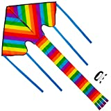 Sun Kites Huge Rainbow Kite for Kids and Adults - Great for Beginners - Very Easy to Fly