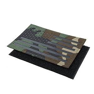 TMC Airsoft Patch Grand Drapeau us Infrarouge Patch avec Dos Crochet et Boucle Velcro Patch (Multicam)