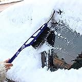 Eisschaber, Rovinci Eisschaber Winter Auto Pinsel und Schneebesen Eiskratzer 2 in 1 Multifunktionale Eisschaber für Autos Truck SUV Windschutzscheibe Gartenhütte Entfernen Schnee Werkzeuge (Blau)