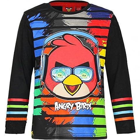 Famille De Quatre Costumes - T-shirt Manches longues Angry Bird Noir -