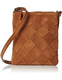 PIECES - Pcsaggie Suede Cross Body, Shoppers y bolsos de hombro Mujer, Braun (Cognac), 2x17x16 cm (W x H D)