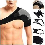 HOMPO Support d'épaule Sangle Réglable en néoprène pour douleurs blessure arthrite une Dislocation Gym Sport