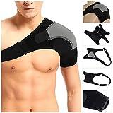 HOMPO Bandage d'Épaule Épaulière Néo Réglable Sportif Orthèse Support Maintien Protection Épaules pour Homme Femme - Gauche