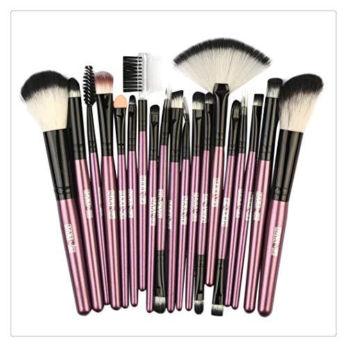 zimuuy Pinceaux Maquillage Cosmétique Professionnel 18pcs Set/Kit Cosmétique Brush Beauté Maquillage Brosse Makeup Brushes Cosmétique Fondation (taille unique, B)