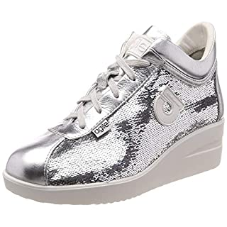 Agile By Rucoline Sneakers Star Gelso Peel-Sequins Silver Silver Size: 3 UK