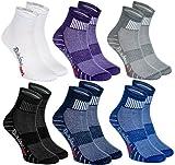 6 Paar Sportliche Socken Moderne Originelle bunte Socken in 6 modischen Farben; in der EU produziert; Größen 44-46. Ideal, wenn der Fuß frei atmen muss. Höchste Qualität. Öko-Tex! (Textilien)