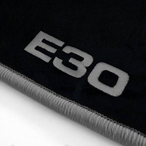 Preisvergleich Produktbild Autoteppich Stylers ATS-Q300_E30-502_BMW_011 Fußmatten mit Stick (E30) und Rand in Silbergrau