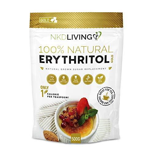 Erythritol GOLD 500g - Natürliche steviahaltige Alternative für braunen Zucker