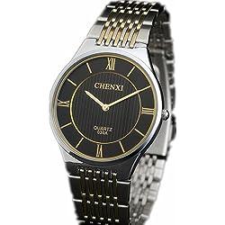 Wishar Hot Ultra-thin models hot slim slim couple watches fashion watch - Men Black