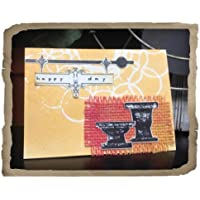 Sizzix Framelits Dies 6/Pkg W/Cling Stamps By 7 Gypsies-Sign Of The Times