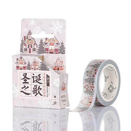Nastro decorativo per decorazioni fai da te, agende, scrapbooking, diario, nastro adesivo per decorazioni natalizie K