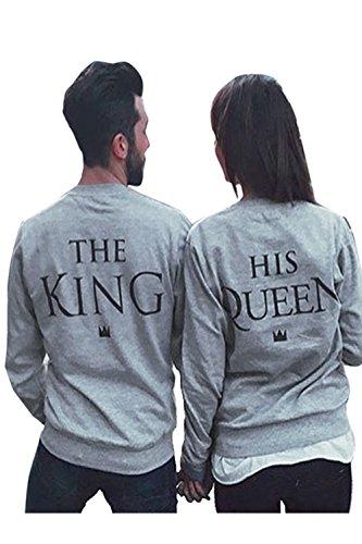 SOTEER King Und Queen Pullover Pärchen Casual Sweatshirts