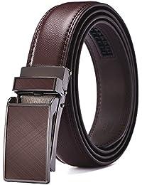 34b3cc546139 Xholding Men's Automatic Buckle Ratchet Leather Dress Belt 30mm Wide 1 1/8