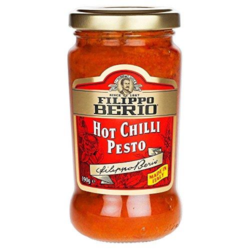 Filippo Berio Hot Chilli Pesto (190g) - Packung mit 6