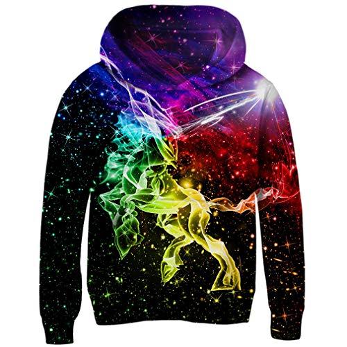 Funnycokid Teenagers Fleece-Pullover 3D Galaxis Benutzerdefiniertes Fleece-Sweatshirt Lustiger Jugend-Pullover Kapuzenpullover , Galaxy 14 - XXL  (10-13T) (Hoodie Sweatshirts Benutzerdefinierte)