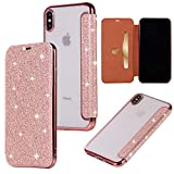 Yobby Etui Portefeuille Glitter pour iPhone XS Max 6.5 Pouce,Coque iPhone XS Max,...