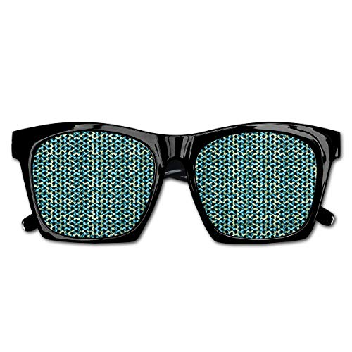 Mesh Sunglasses Sports Polarized, Vintage Wavy Ethnic Swirling Stripes Symmetric Carpet Style Motif,Fun Props Party Favors Gift Unisex
