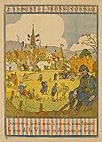 World of Art Vintage Französisches Propagandaposter