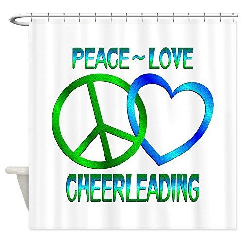 Peace Love Cheerleading–Dekostoff Vorhang für die (Passt Cheerleading)