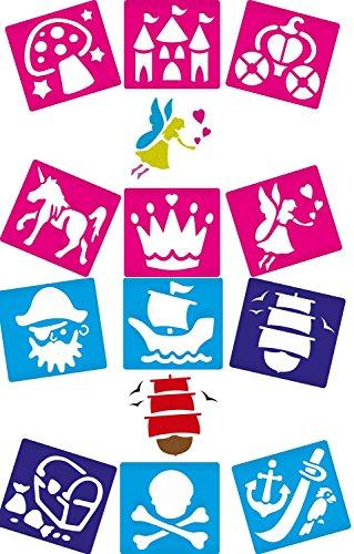 12-washable-stencils-fairy-and-pirate-fantasy-themes-14cm-x-15cm