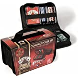Cartamundi Compact Poker Set | 150 Chip Set with Case & Playing Cards