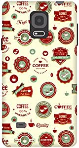 The Racoon Lean printed designer hard back mobile phone case cover for Samsung Galaxy Note 4. (Teal Coffe)