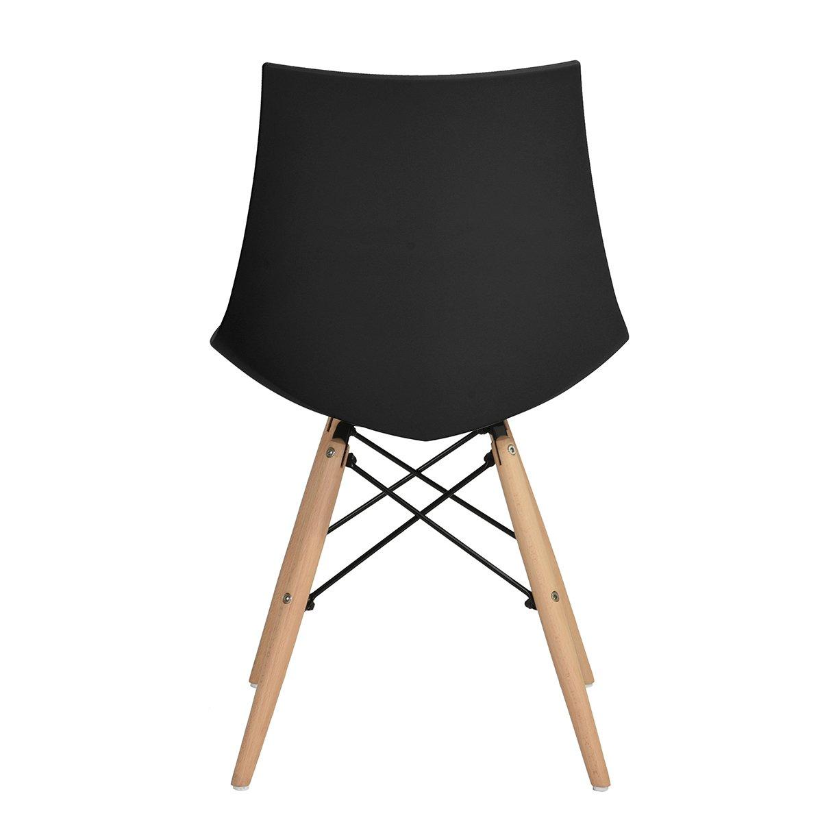 6er set holz k chenst hle retro gepolsterter b rostuhl. Black Bedroom Furniture Sets. Home Design Ideas