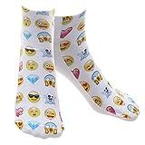 Gazechimp 1 Par Calcetines Cortos Unisex Emoji Tobillo Harajuku Emoticonos Tobillo Calcetines - # 1, /
