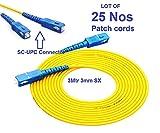 Patch Cords 25 25 Nos Optical Fiber Jumper Sc-Sc Sm Sx 3mm 3M 9/125Um 3 Meters Sc/Pc Fiber Optic Patch Cord