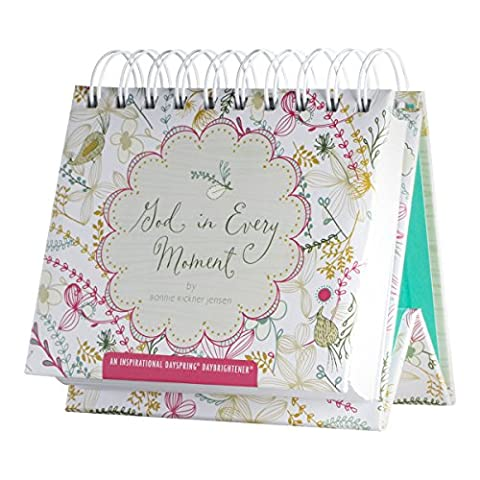 DaySpring God in Every Moment, DayBrightener Perpetual Flip Calendar, 366 Days of Inspiration