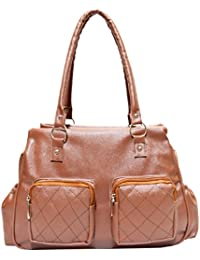 Angel & Rayon Stylish PU Leather Women And Girls Handbag (Brown) (ARBASAIN159)