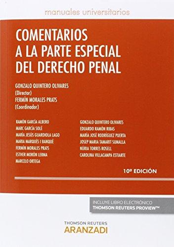 Comentarios Partes Especial Derecho Penal (Manuales) por Gonzalo Quintero Olivares