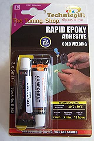 EPOXY ADHESIVE GLUE RAPID 5 MIN FOR metal wood glass plastic bricks concrete very strong NEW