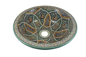mikhat hanbemalte marokkanische waschbecken design. Black Bedroom Furniture Sets. Home Design Ideas