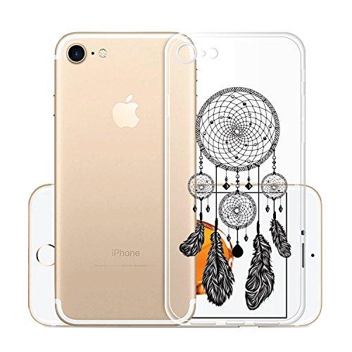 Custodia per iPhone 8, Custodia per iPhone 7, JIENI Trasparente Cover Moda Palloncini colorati Flessibile TPU Silicone Bumper Case per iPhone 8 (2017) et iPhone 7 (2016) WM22