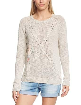 Cream Damen Bluse Fleur Pullover, Einfarbig, Gr. 42 (Herstellergröße: XL), Grau (Silver gray 2001)