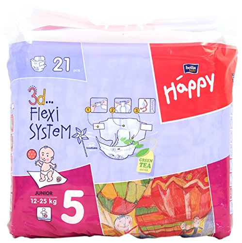 BELLA HAPPY Junior Babywindeln 12-25 kg, 21 St
