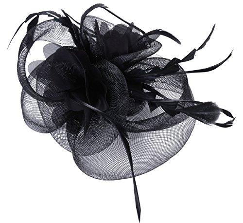 Fascigirl Fascinator Haar Clip Haar Accessoire Tea Party Hochzeitskirche Kopfbedeckung für Frauen