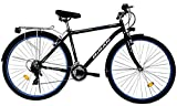 T&Y Trade 28 Zoll Jungen Herren City Trekking Jugend CITYBIKE Fahrrad Herrenfahrrad KINDERFAHRRAD CITYFAHRRAD Rad Bike 21 Gang Man Schwarz Blau 5200
