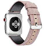 WOOLIY for Apple Watch Band Women Woven Canvas Nylon iWatch Bands Ersatz Wristband Strap for 38mm 40mm 42mm 44mm New Apple Watch Series 4/3/2/1,D,40mm