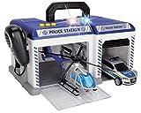 Dickie Toys 203716012 Police Station Polizeistation inkl. Helikopter und Einsatzfahrzeug