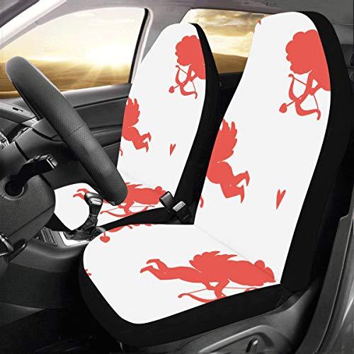 Schöne kawaii pfeil particluar benutzerdefinierte neue universal fit auto drive autositzbezüge schutz für frauen automobil jeep lkw suv fahrzeug full set zubehör für erwachsene baby (set von 2 vorne) -