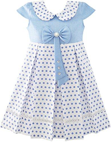 Punkt Schule Uniform Bogen Binden Perle Kappe Ärmel Gr. 122 (Schule Mädchen Kleider)