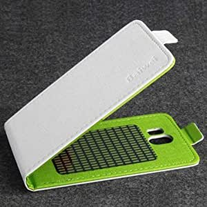 Hit Color Flip PU Leather Protective Case Cover For Cubot GT95-White