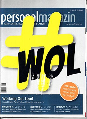 Personal Magazin 3 2018 Working out loud Zeitschrift Magazin Einzelheft Heft Personalplanung