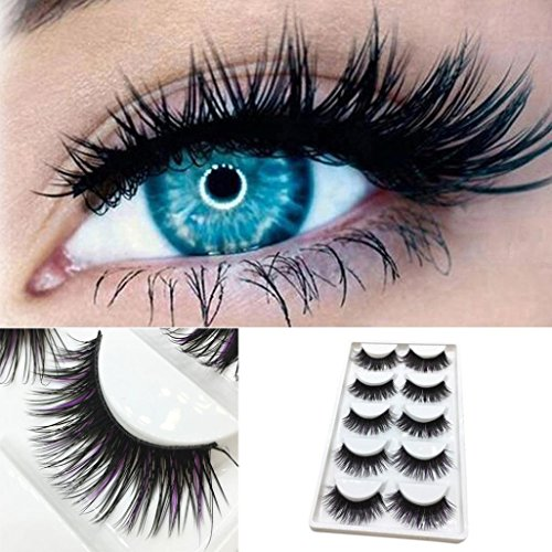 Moonuy Cils Fluffy 3D Faux Cils de Luxe Longue Partie Naturelle Dense Paragraphe Messy Cross Mink Reusable False Magnetic Fashioned Eye Lashes Produits de Maquillage (I)